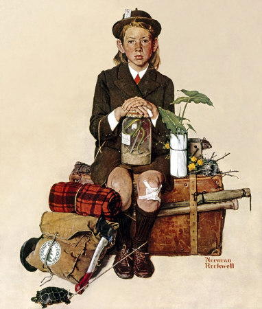 Norman Rockwell: Girl Returning From Camp
