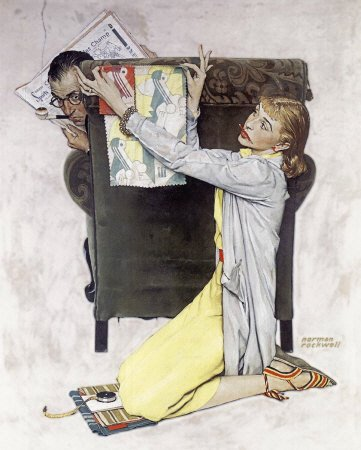 The March 30, 1940 Saturday Evening Post cover by Norman Rockwell entitled The Decorator