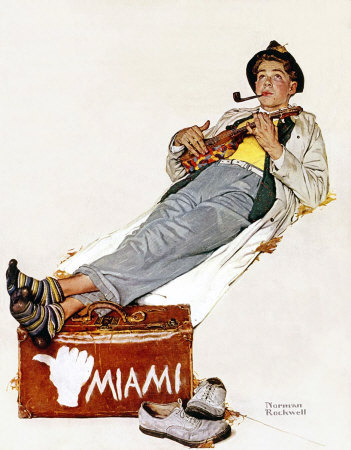 The November 30, 1940 Saturday Evening Post cover by Norman Rockwell entitled The Hitchhiker