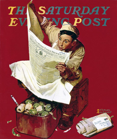 Norman Rockwell: Willie Gillis: Hometown News