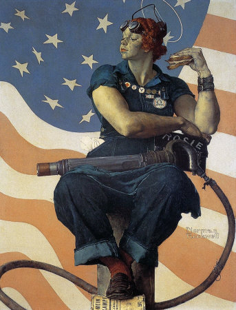 The May 29, 1943 Saturday Evening Post cover by Norman Rockwell entitled Rosie The Riveter