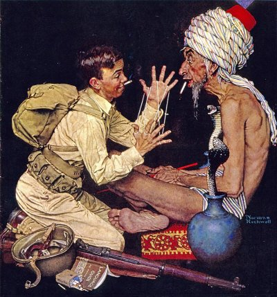 Norman Rockwell: Willie Gillis: Cat's Cradle