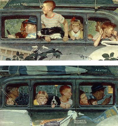 Norman Rockwell: Going and Coming