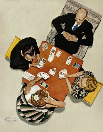 Norman Rockwell: Bridge Game