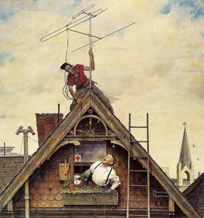 Norman Rockwell: New Television Antenna