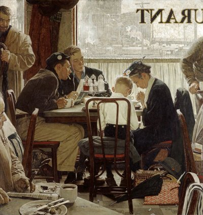 Norman Rockwell: Saying Grace
