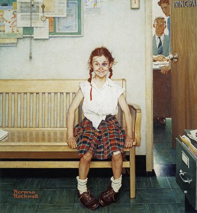 Norman Rockwell: Girl With Black Eye