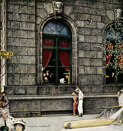 The August 27, 1960 Saturday Evening Post cover by Norman Rockwell entitled University Club