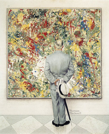 The January 13, 1962 Saturday Evening Post cover by Norman Rockwell entitled The Connoisseur