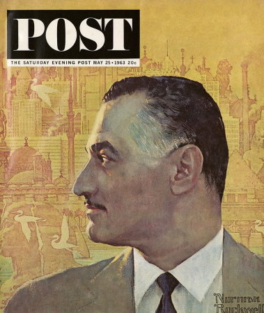 The May 25, 1963 Saturday Evening Post cover by Norman Rockwell entitled Portrait of Nasser